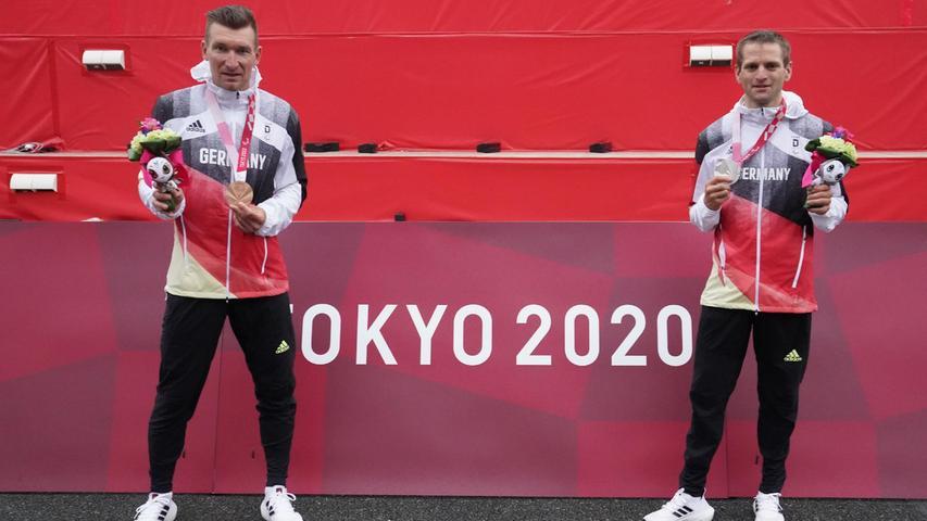 Erfolgsduo: Bronzesieger Matthias Schindler (links) und der mit Silber dekorierte Tübinger Steffen Warias.