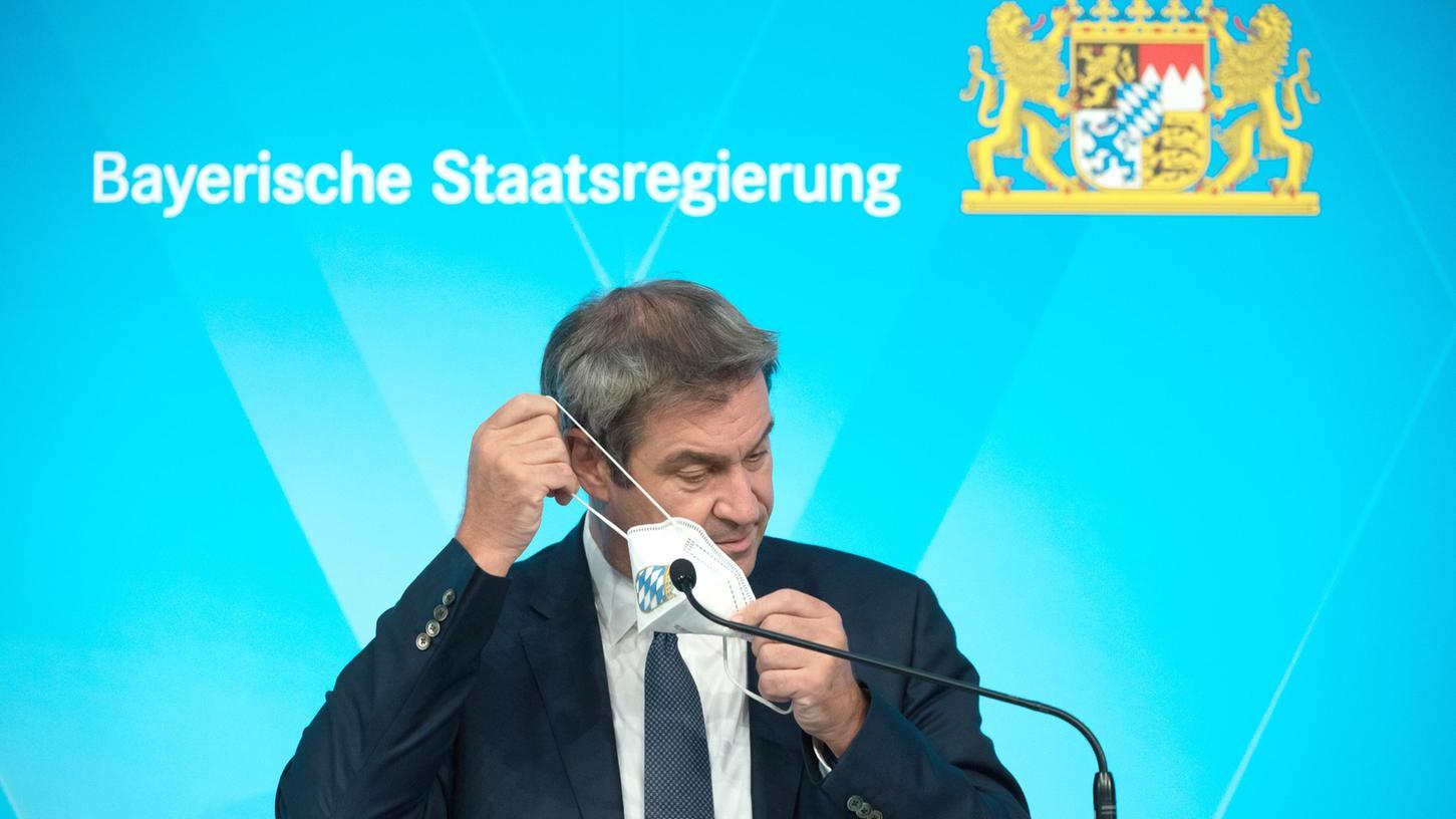 Bayerns Ministerpräsident Markus Söder (CSU) erklärt nach der Kabinettssitzung, welche Corona-Regeln nun gelockert werden.