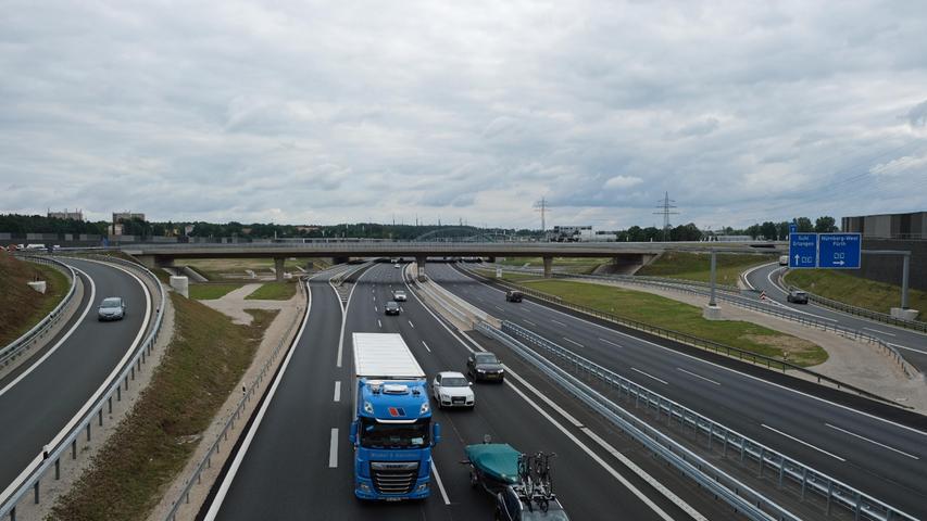 Ab heute: Tangente am Autobahnkreuz Fürth/Erlangen für vier Wochen gesperrt