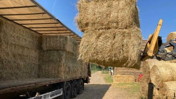 Freudentränen bei Flutopfern: Fränkische Bauern spenden Futterheu für Tiere