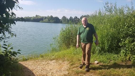 Wasserspiegel am Labsee im Regnitztal sinkt dramatisch