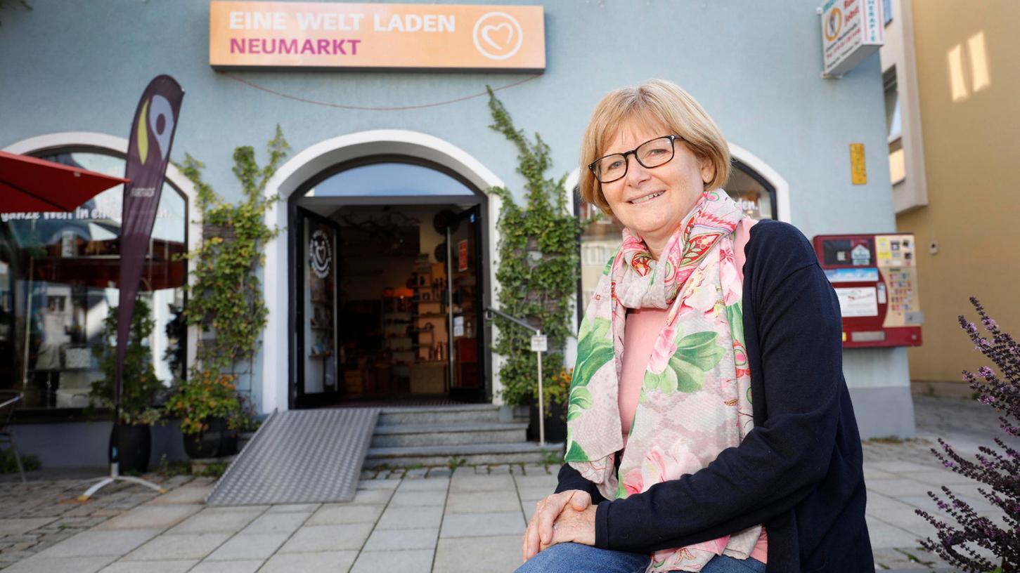 Seit den Achtzigern führt Ruth Dorner den Eine-Welt-Laden in Neumarkt, der inzwischen in der Unteren Marktgasse seinen Platz hat.
