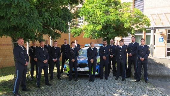 Neue Polizisten für die Inspektion Erlangen