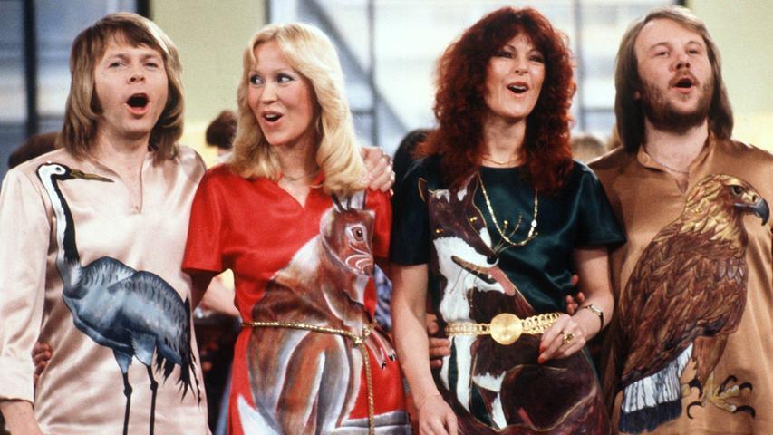 Anni-Frid Lyngstad (zweite von rechts), Sängerin von ABBA, hat fränkische Wurzeln. Ihr Leben ist von vielen Schicksalsschlägen gezeichnet, ihren Vater lernet sie erst mit 32 Jahren kennen.