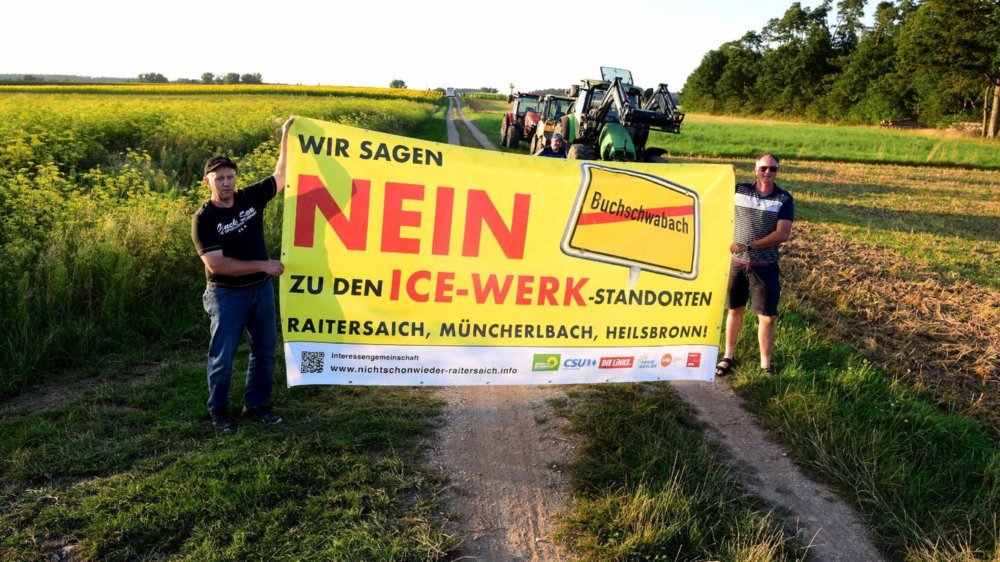 Die Pläne der Deutschen Bahn für ein ICE-Werk in Raitersaich waren auf Protest gestoßen.