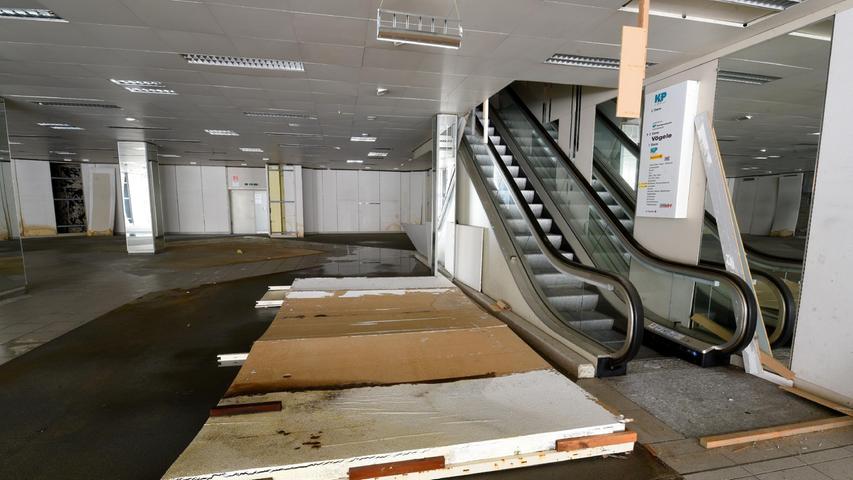 Die Rolltreppe steht seit vielen Jahren still.