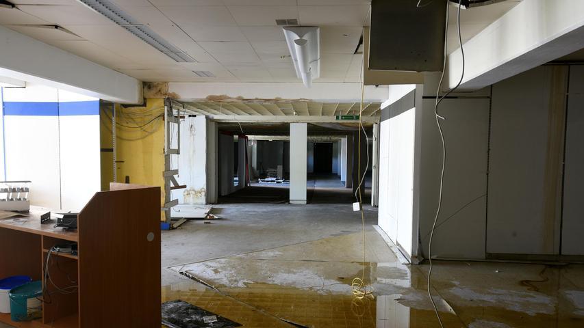 Die riesigen Hallen stehen seit vielen Jahren leer.