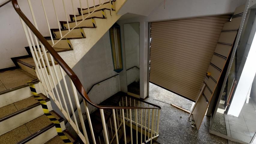 Das Treppenhaus - verwaist.