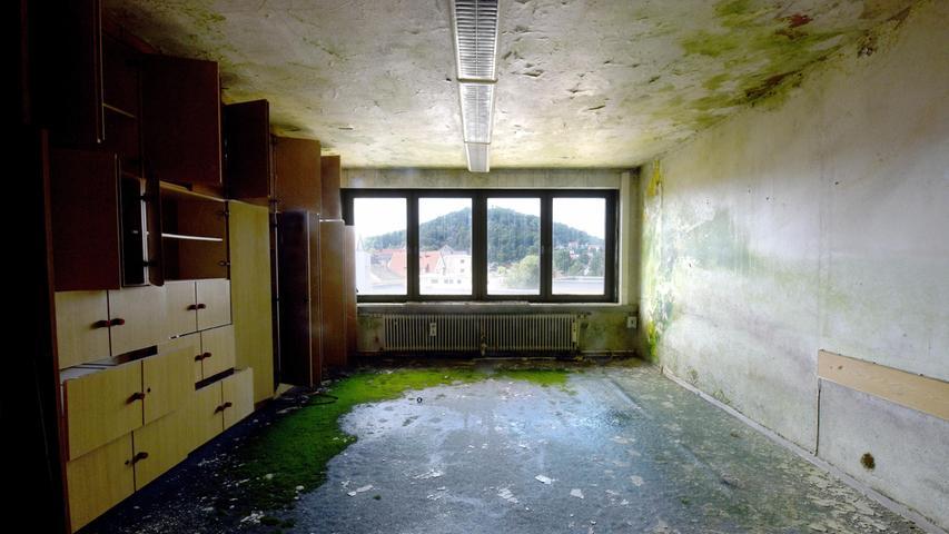 Die Läden und Büros sind seit vielen Jahren leer.