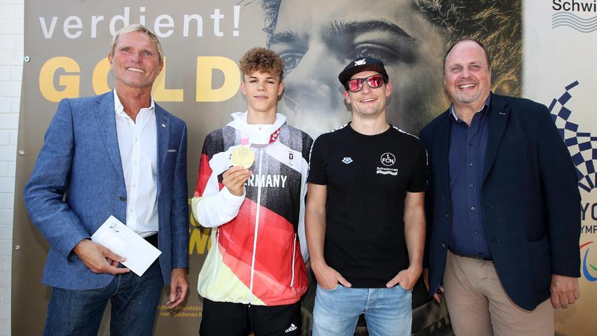Nürnberg feiert seinen Gold-Helden: Taliso Engel im Clubbad empfangen