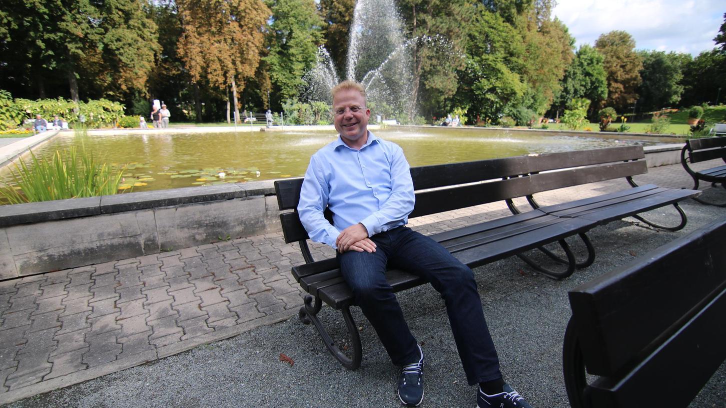 Kurdirektor im Kurpark: Mike Bernasco vor seinem Abschied.