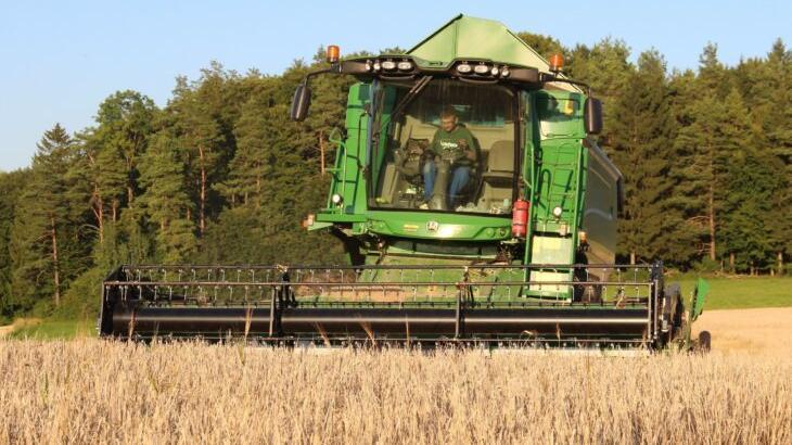 Die Getreideernte, im Bild ein Feld zwischen Frohnhof und Götzlesberg, war in diesem Jahr nicht so gut wie erhofft, sagt Ludwig Prey vom Landwirtschaftsamt.