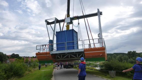 Kurze Sperrung des Damms zwischen Igelsbachvorsperre und Großem Brombachsee