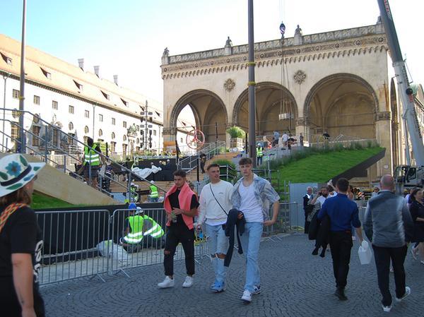Seit Tagen hat sich die Münchner Innenstadt auf die IAA Mobility vorbereitet.