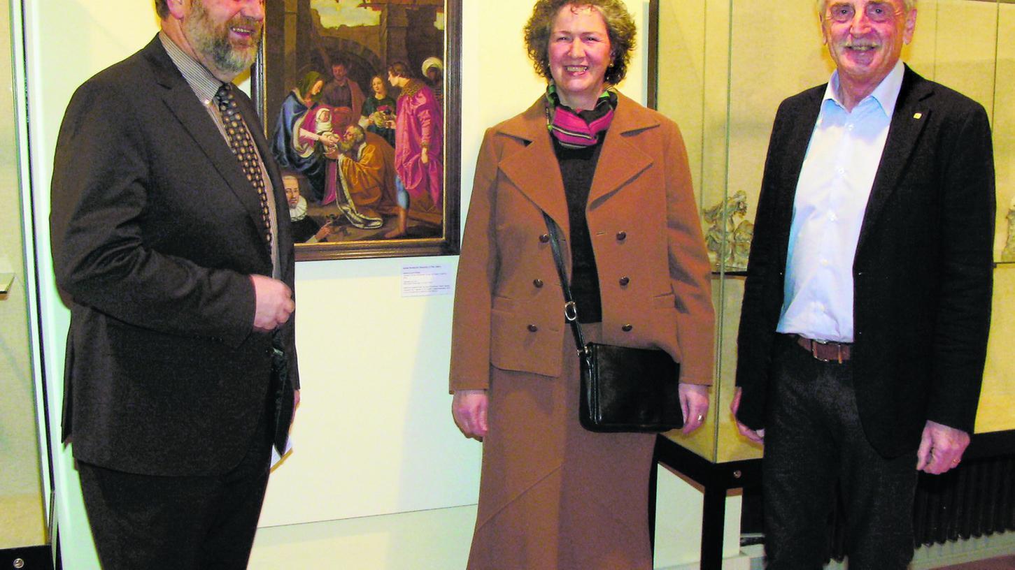 Für die Sonderausstellung über Adam Friedrich Ditterich in Ebermannstadt dankte Bürgermeister Franz Josef Kraus, Sibylle Ruß und Manfred Franze.