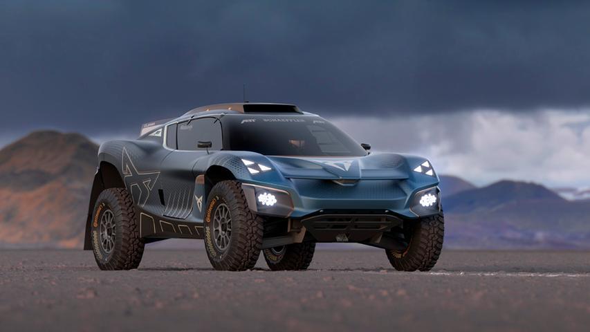 Das elektrische Konzeptfahrzeug Tavascan Extreme E lässt eher vage erahnen, wie der künftige Cupra Tavascan aussehen könnte, der 2024 als zweiter Stromer der Marke debütiert.