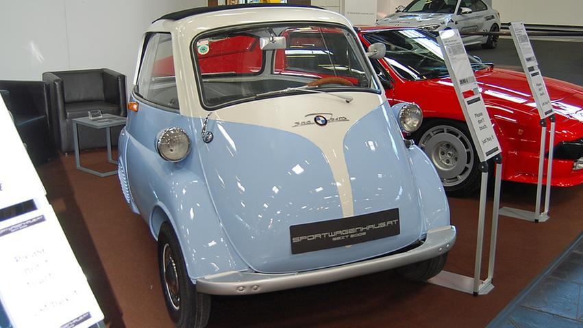 Das Original: Die Isetta steht in der Oldtimer-Halle.