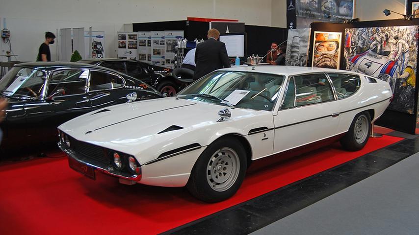 Wer auf der IAA Mobility teure Exoten sucht, muss eine Zeitreise unternehmen - etwa zu diesem Lamborghini Espada 400 GT aus dem Jahr 1975. Preis: 169.000 Euro.