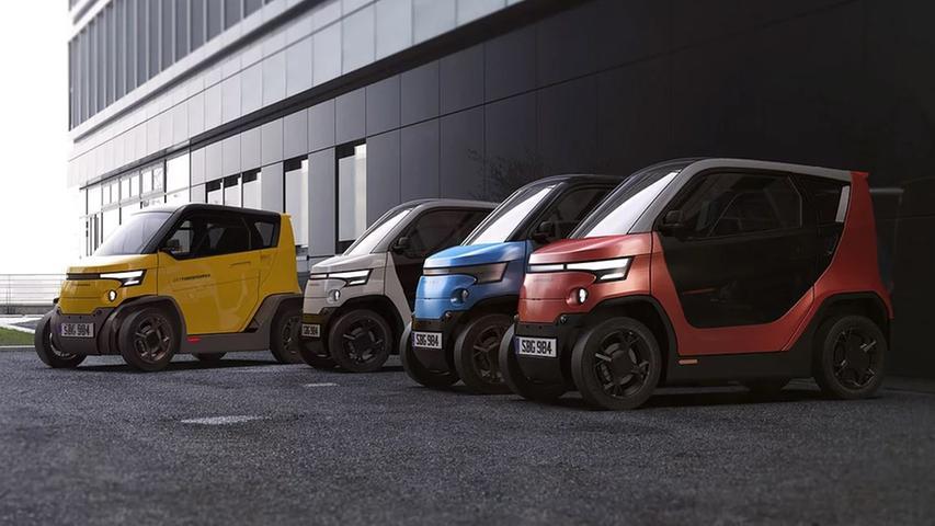 Der elektrische Kleinstwagen City Transformer trägt seinen Namen zu Recht: Auf Knopfdruck schrumpft das Mini-Gefährt aus Israel in der Breite von 1,40 Metern auf nur einen Meter. 2023 soll die Serienproduktion anlaufen.