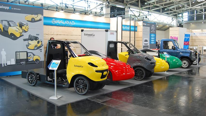 Dort ist dann auch zu besichtigen, wie das Pedelec zum Kleinwagen und sogar zum Transporter wird: Mit dieser Palette will Akkurad aus Schwäbisch Gmünd auf den Markt kommen.