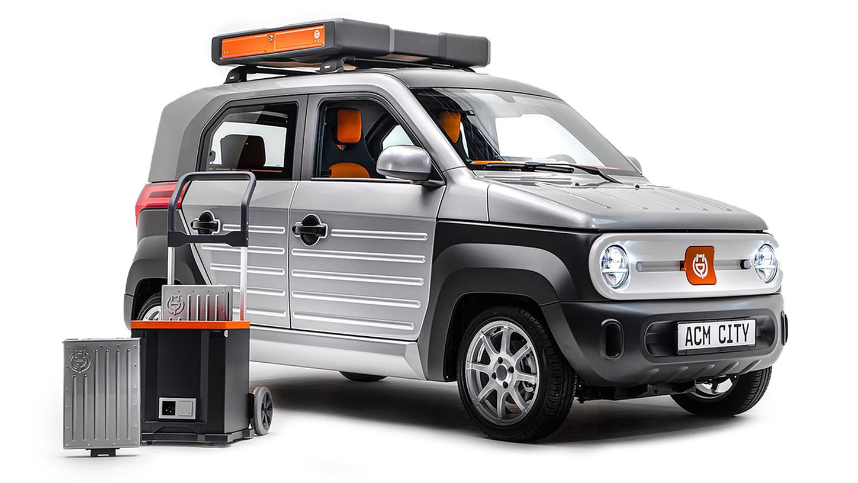 ACM City One: Der kleine Stromer steckt in einem knuffigen SUV-Kleid.