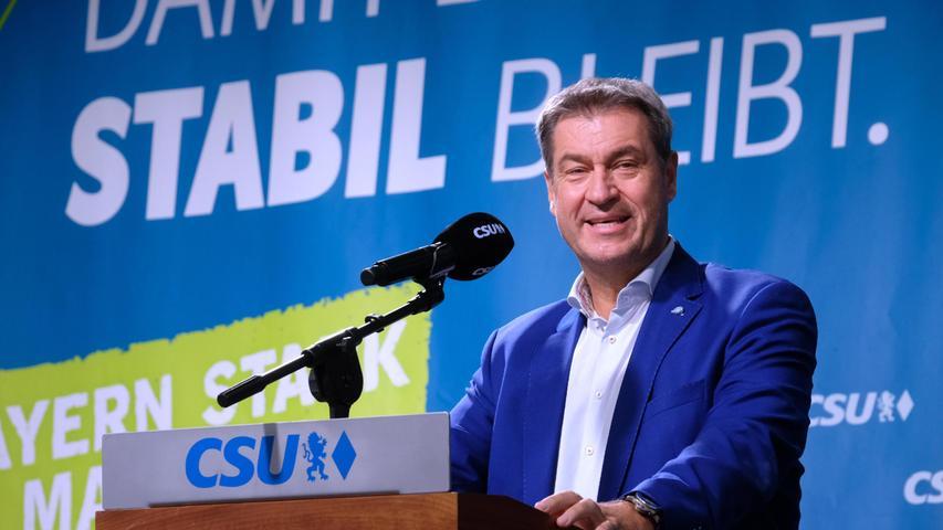 Auftritt in Nürnberg: Markus Söder auf CSU-Wahlkampftour