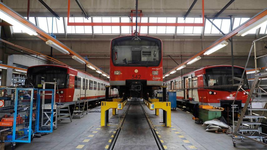 Einsatz rund um die Uhr: So sieht es in der U-Bahn-Werkstatt Nürnberg aus