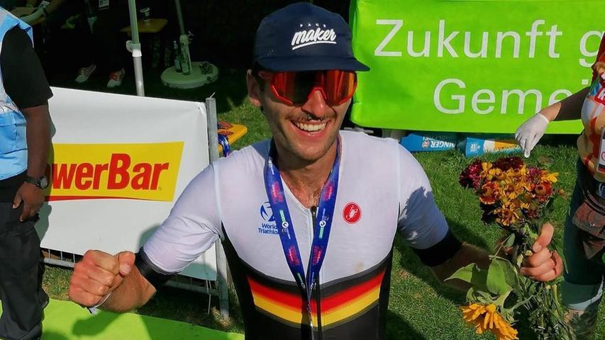 Abgekämpft aber total glücklich im Ziel: Tim Freitag aus Holzingen.