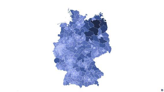 Darum ist ein Wahlkreis im Norden 44 mal so groß wie Nürnberg-Süd