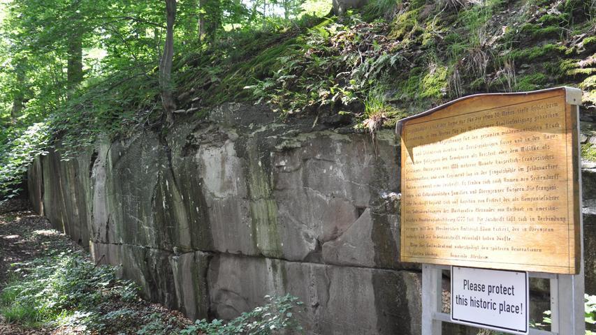 Die Fingalshöhle lieferte unter anderem Material für die Windsheimer Stadtmauer.