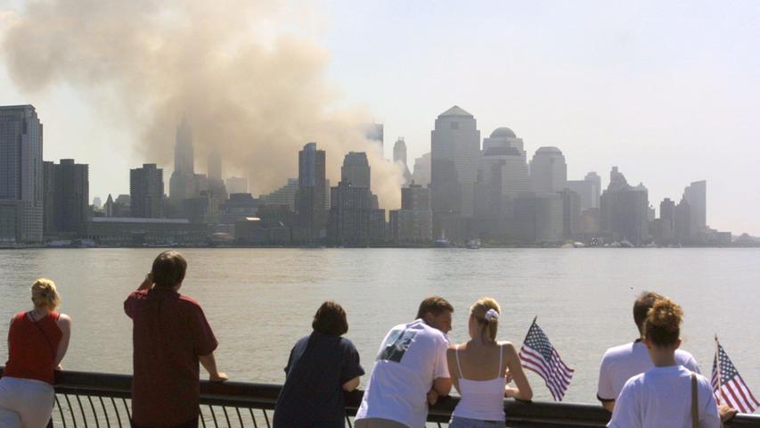 Rauch über Manhattan am 11. September 2001.