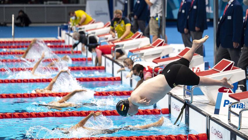 Josia Topf bei den Paralympics in Tokio.