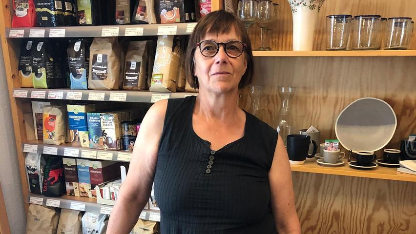 Julie Mildenberger vomDritte Welt Laden in Erlangen