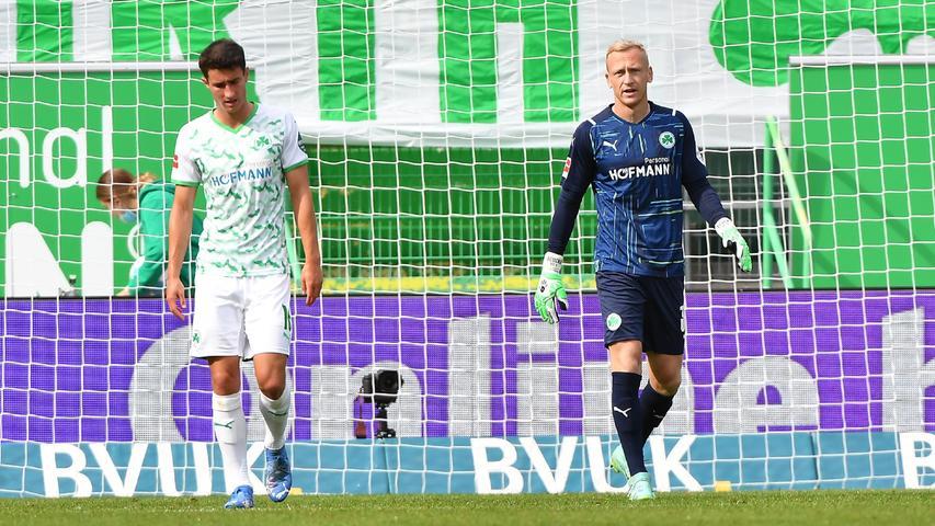 0:2 gegen Wolfsburg: Fürth verliert zweites Heimspiel