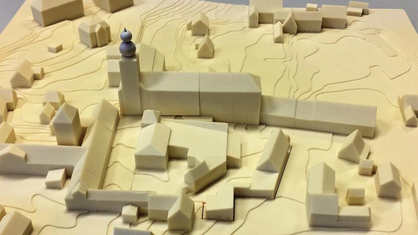 So sieht das 2017 vorgestellte Modell des umgebauten Klosters aus.