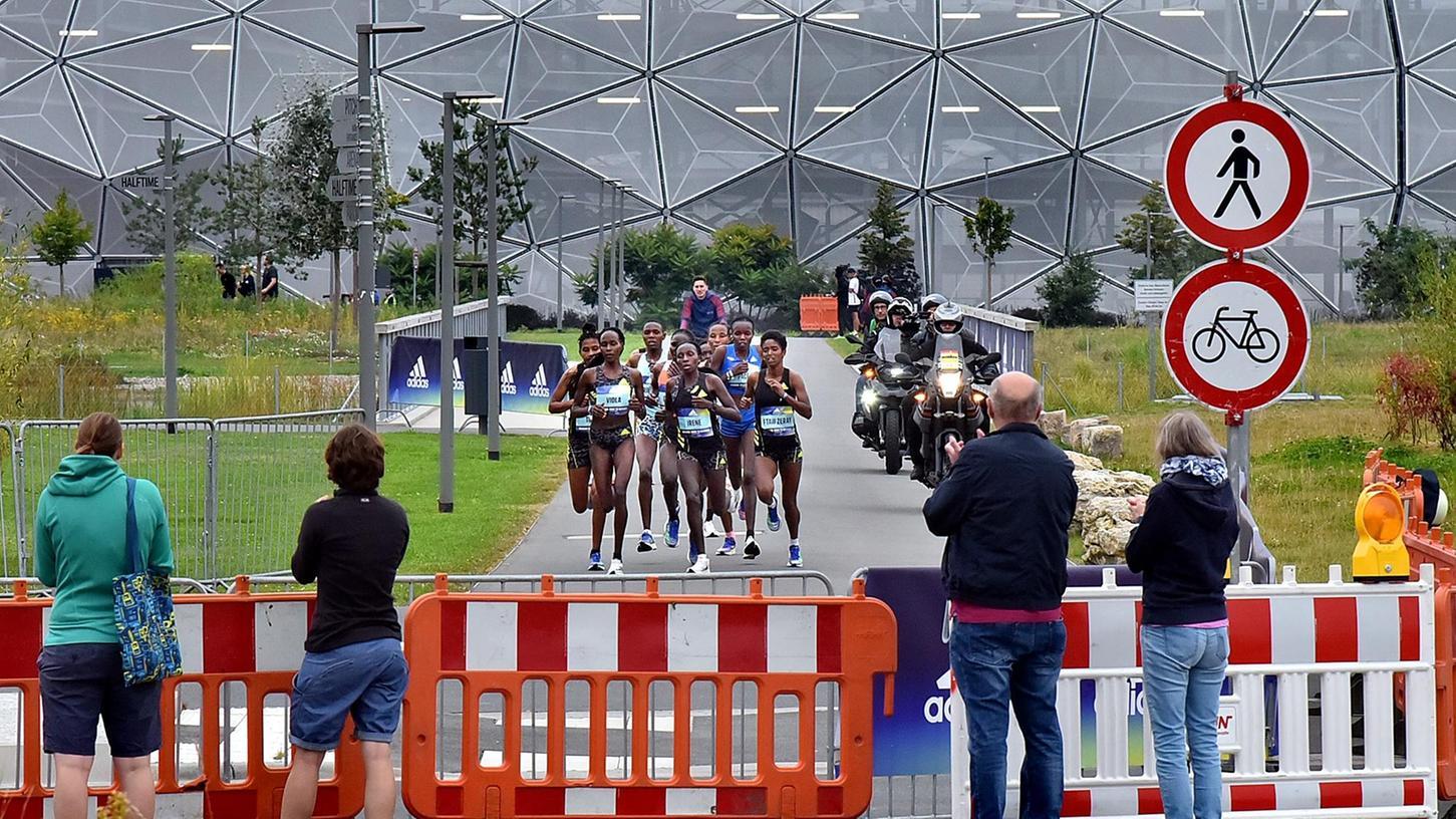 Auch eine Halbmarathon-Strecke hatten die Frauen bei derLaufveranstaltung