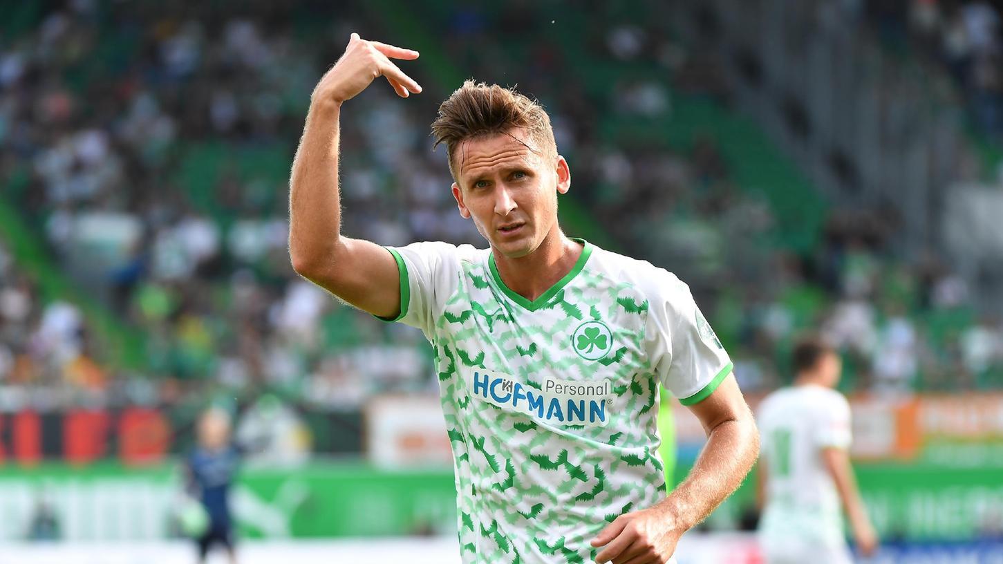 Weiter arbeiten, weiter daran glauben: Auch Paul Seguin tut sich bislang schwer in der Bundesliga, ist aber überzeugt, dass seine Fürther demnächst häufiger punkten.