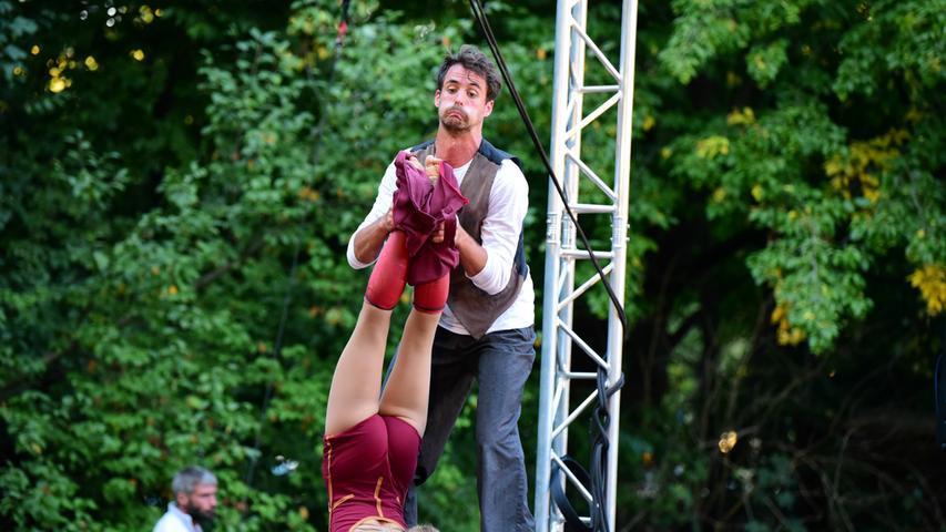 Ressort: Lokales - Forchheim  Datum: 11.09.2021  Foto:  Udo Güldner  Zirkart-Festival 2021 in Forchheim Marie und Joschi