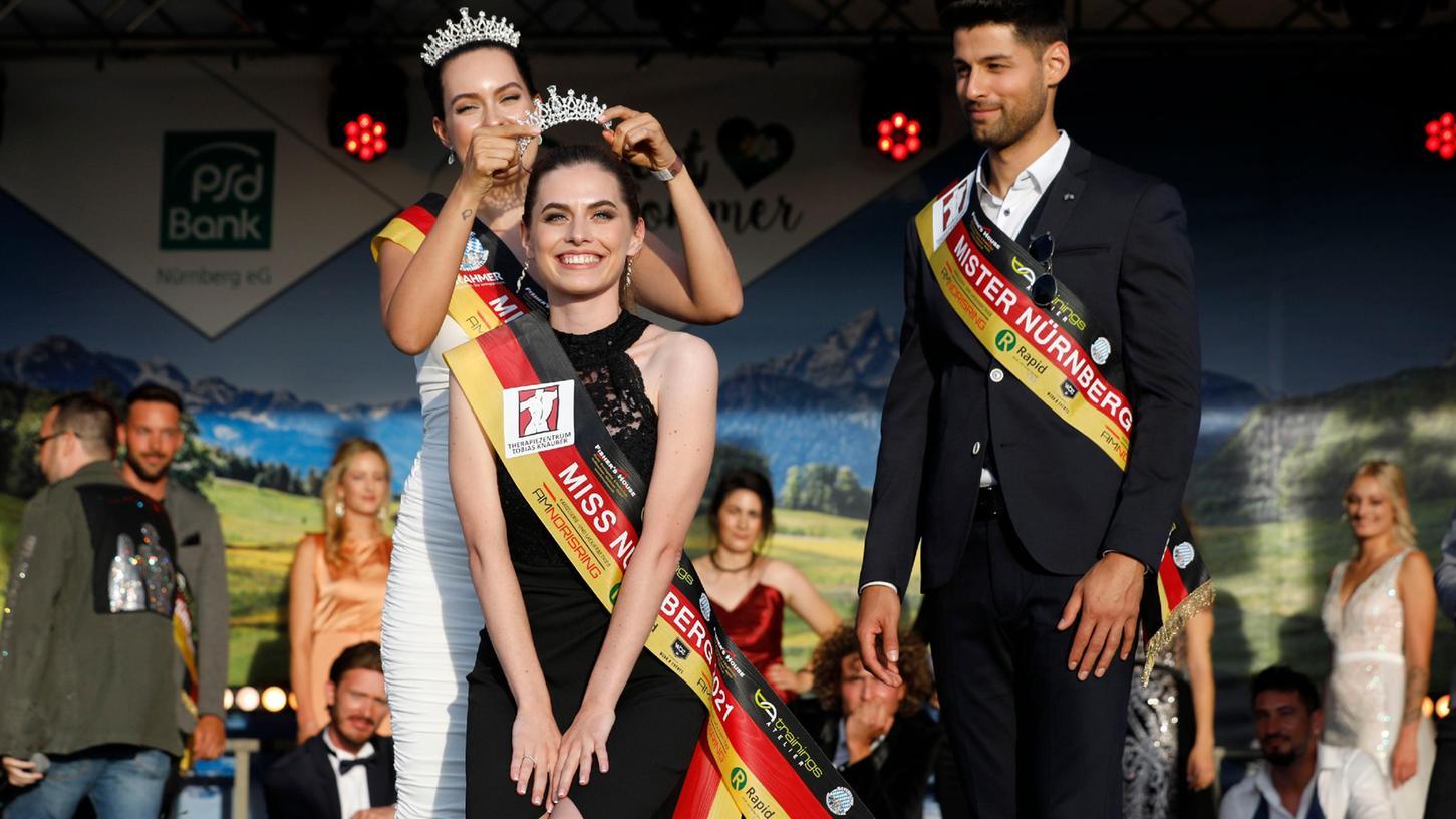 Die neue Miss Nürnberg Agnes Pelzl und der neue Mister Nürnberg Osman Umur nach der Finalentscheidung.
