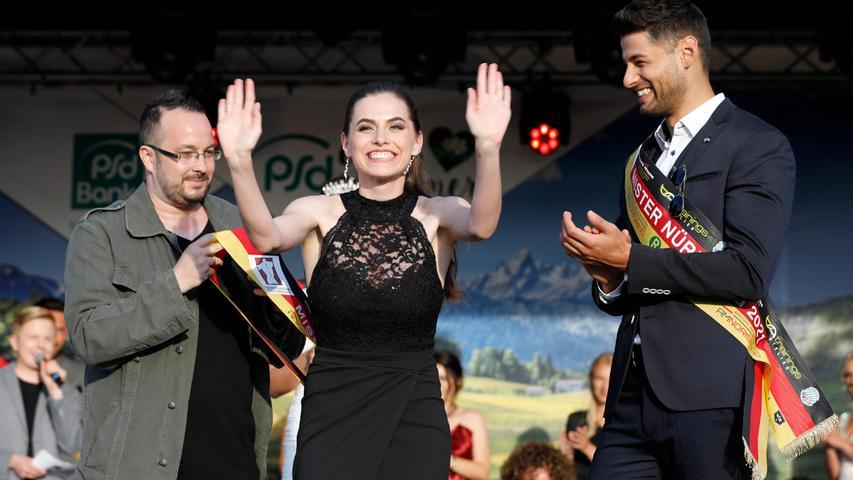 Agnes Pelzl freute sich sehr über ihre Wahl zur Miss Nürnberg 2021.