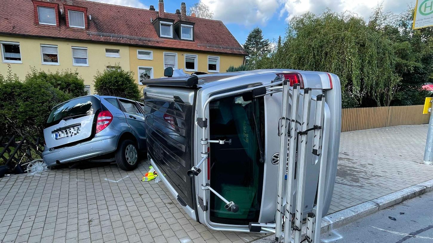 85.000 Euro Sachschaden entstand bei diesem Unfall in Bayreuth.