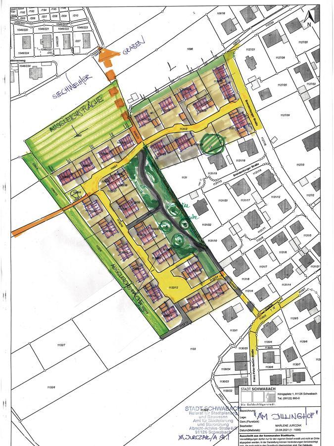 So sieht der Plan für das künftige Baugebiet