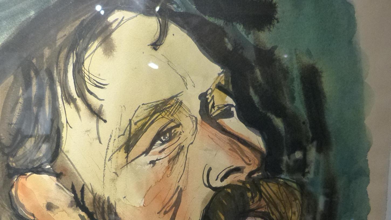 Ein Selbstporträt von Eitel Klein ist eines der Ausstellungsstücke in Pettensiedel.