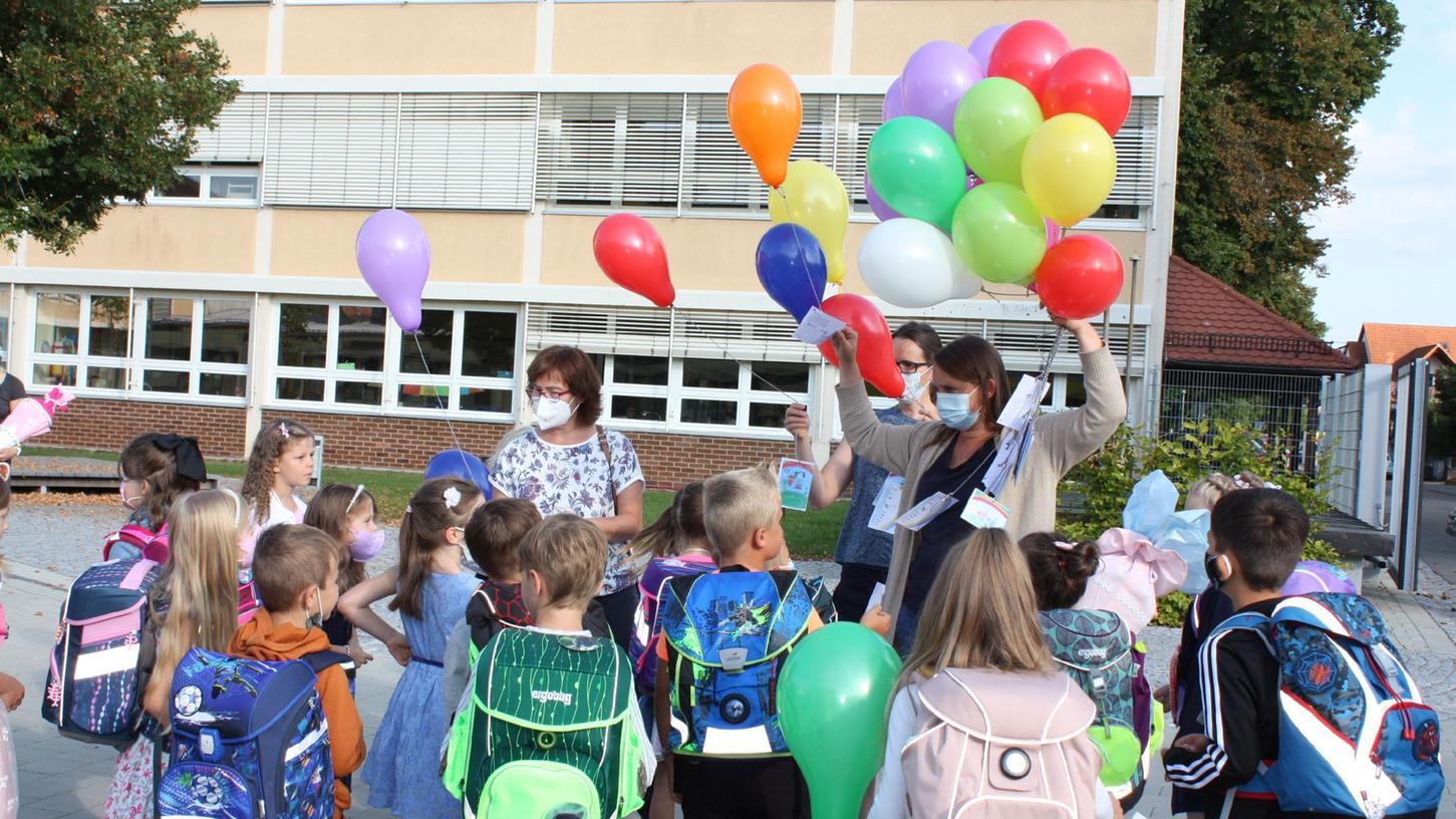 Einschulung in der Stephani-Grundschule in Gunzenhausen.