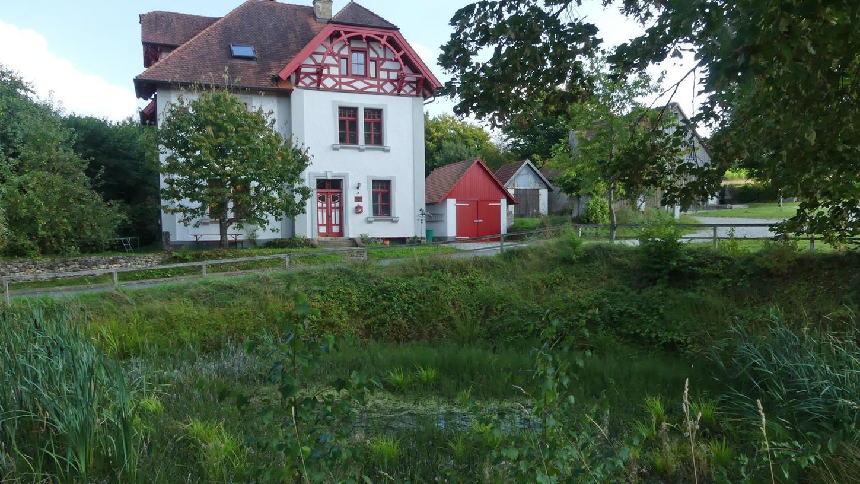 Schaut idyllisch aus und hat(te) gleichzeitig auch eine bedeutende Funktion: der Weiher in Engelhardsberg. Er ist ein Stück Kulturgeschichte in der Fränkischen Schweiz.