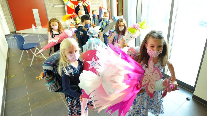 Großer Tag für 42 Erstklässler an der Grundschule im Forchheimer Stadtteil Reuth