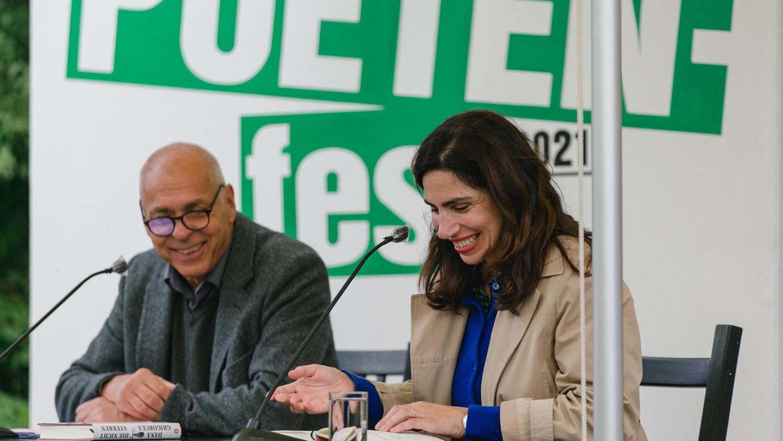 Lustige Erzählerin: Dana Grigorcea beim Poetenfest.
