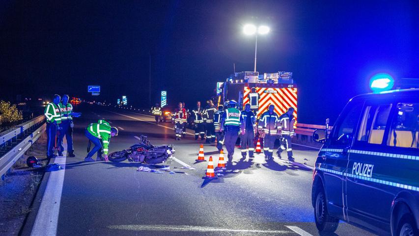 Forchheim: Junger Motorradfahrer stirbt auf der A73