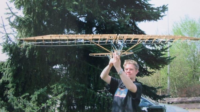 Eines der beiden existierenden Modelle des Rekord-Segelflugzeugs.