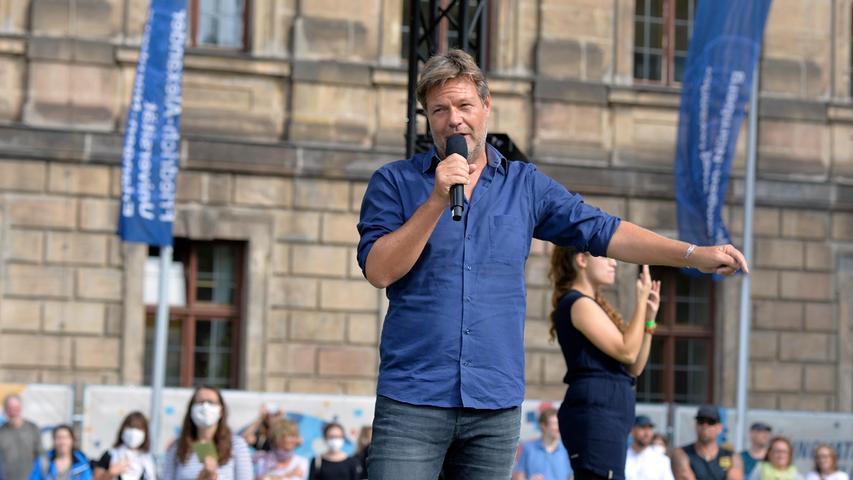 Robert Habeck von den Grünen in Erlangen